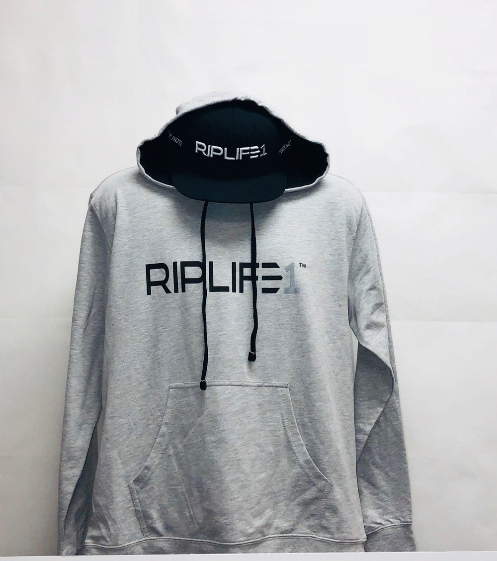 Workout Hoodie -Grey / Black  with Grey1 - RIPLIFE1