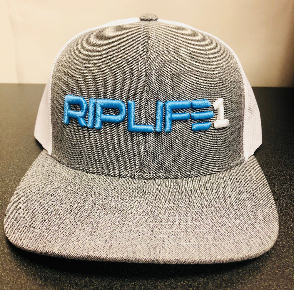 Heather - Cali Blue Trucker Hat - RIPLIFE1