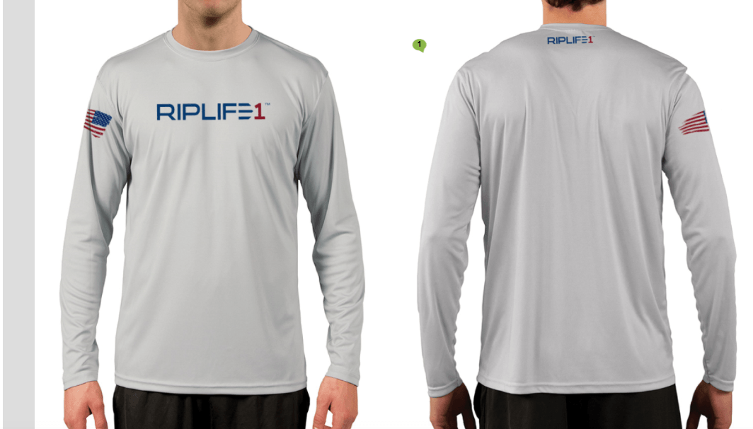 Cool Tec Mens-Long Sleeve Grey - RIPLIFE1