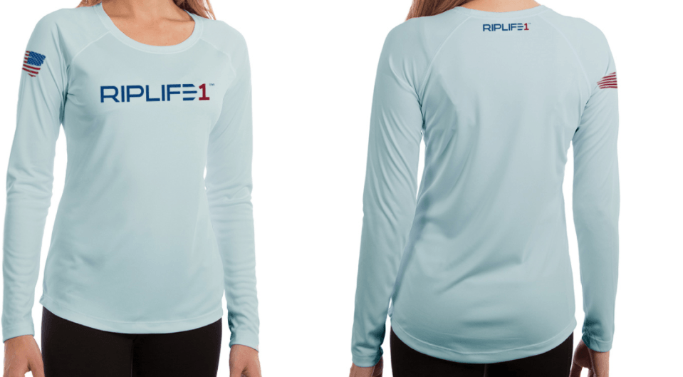Cool Tec Womens-Long Sleeve Blue - RIPLIFE1