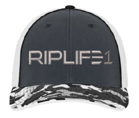 Fitted RIPLIFE1 Camo Bill HAT- Sm/Medium - RIPLIFE1