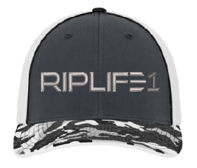 Fitted RIPLIFE1 Camo Bill HAT- LARGE/ XL - RIPLIFE1