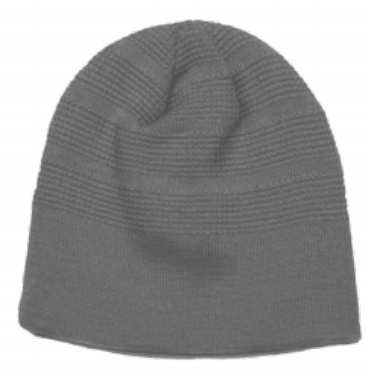 BEANIE- Graphite - With White Puff and Cali Blue 1 - RIPLIFE1