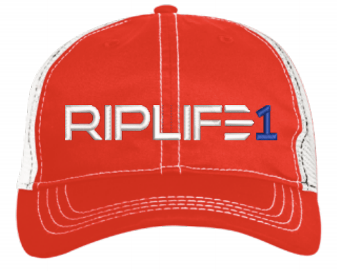 TRUCKER RED WHITE PUFF RIPLIFE NAVY BLUE 1--RIPLIFE1 - RIPLIFE1