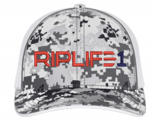 BaseBall Hat -Snow white Digi Camo Red blue puff RIPLIFE1 - RIPLIFE1