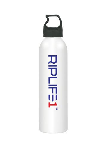 RIPLIFE1 25oz Sports Bottle - White Aluminum - RIPLIFE1