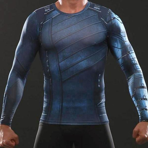 Winter Soldier Infinity War Dry-Fit Long Sleeve Shirt