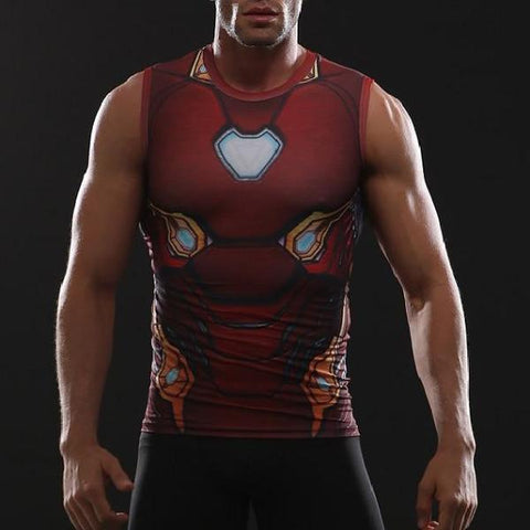Iron Man Infinity War Dry-Fit Tank Top