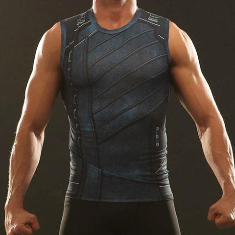 Winter Soldier Infinity War Dry-Fit Tank Top