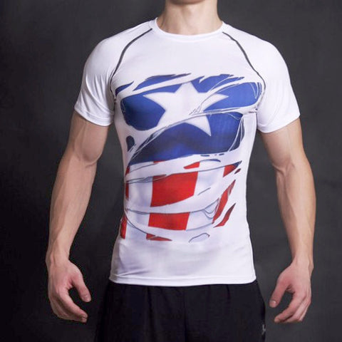 Alter Ego Shirt - Captain America Alter Ego Compression Shirt