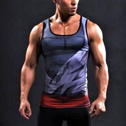Black Goku Battle Torn Gi Dry-Fit Tank Top