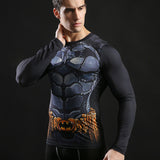 Batman Combat Armor Long Sleeve Compression Shirt