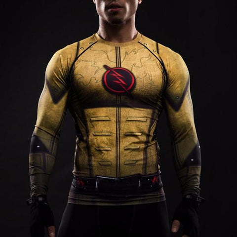 Reverse Flash Long Sleeve Compression Shirt