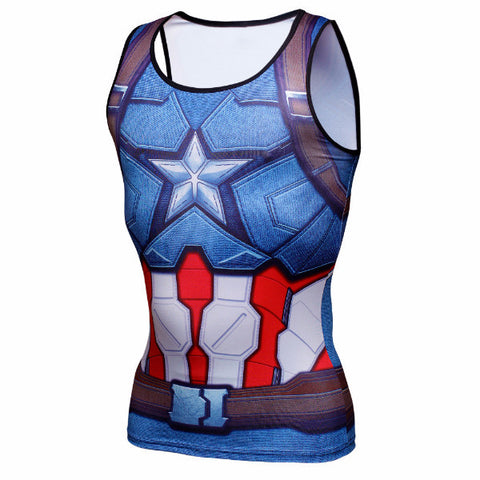Captain America Compression Tank Top