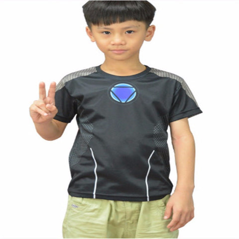 Iron Man Under Suit Kids Shirt
