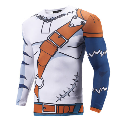 Weregarurumon Long Sleeve Dry-Fit Digimon Shirt