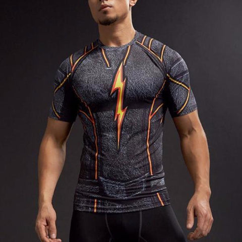 Black Flash Dry-Fit Compression Shirt