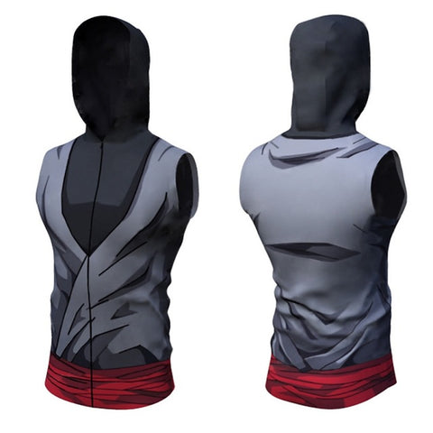 Black Goku Dry-Fit Hooded Tank