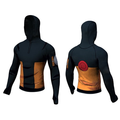 Naruto Dry-Fit Hooded Shirt