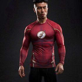 Super Hero Shirt - Flash Long Sleeve Compression Shirt