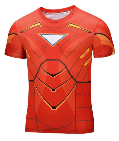 Super Hero Shirt - Iron Man Compression Shirt