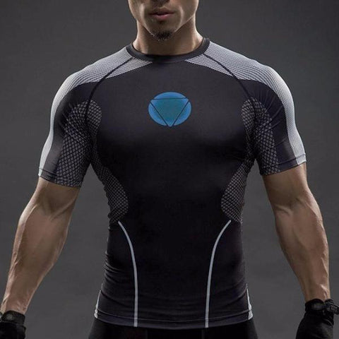 Super Hero Shirt - Iron Man Under Suit Compression Shirt