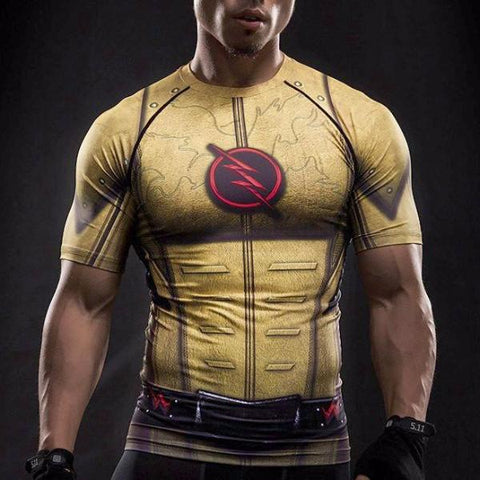 Super Hero Shirt - Reverse Flash Compression Shirt