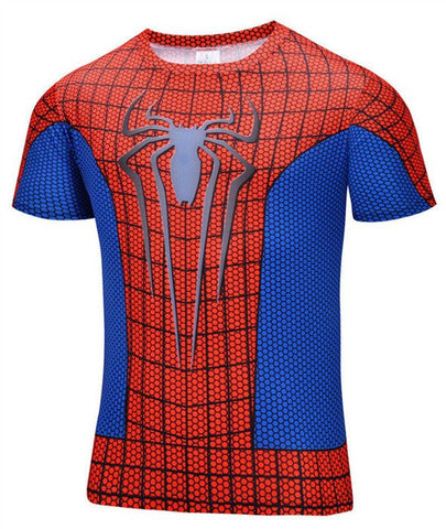 Super Hero Shirt - Spider Man Compression Shirt