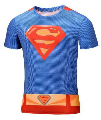 Super Hero Shirt - Superman Compression Shirt