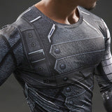 Super Hero Shirt - Winter Soldier Long Sleeve Compression Shirt