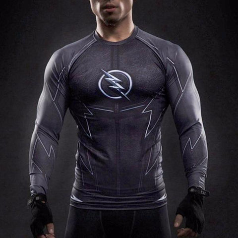 Super Hero Shirt - Zoom Long Sleeve Compression Shirt