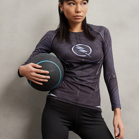 Super Hero Shirt - Zoom Long Sleeve Compression Tee