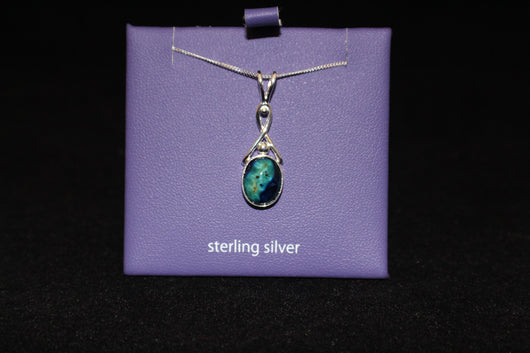 Heather Gem Silver pendant