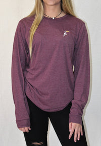 Classic Maroon Triblend Long Sleeve - Toucanny