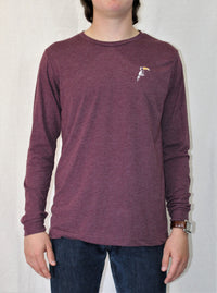 Classic Maroon Triblend Long Sleeve