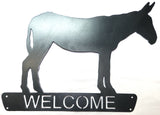 Metal Art - Donkey Welcome Sign