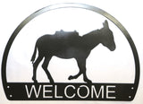 Metal Art - Welcome Burro