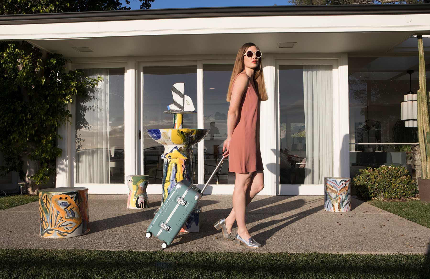 Arlo Skye Luggage Smart Suitcase Collaboration With Sight Unseen at Casa Perfect by Future Perfect