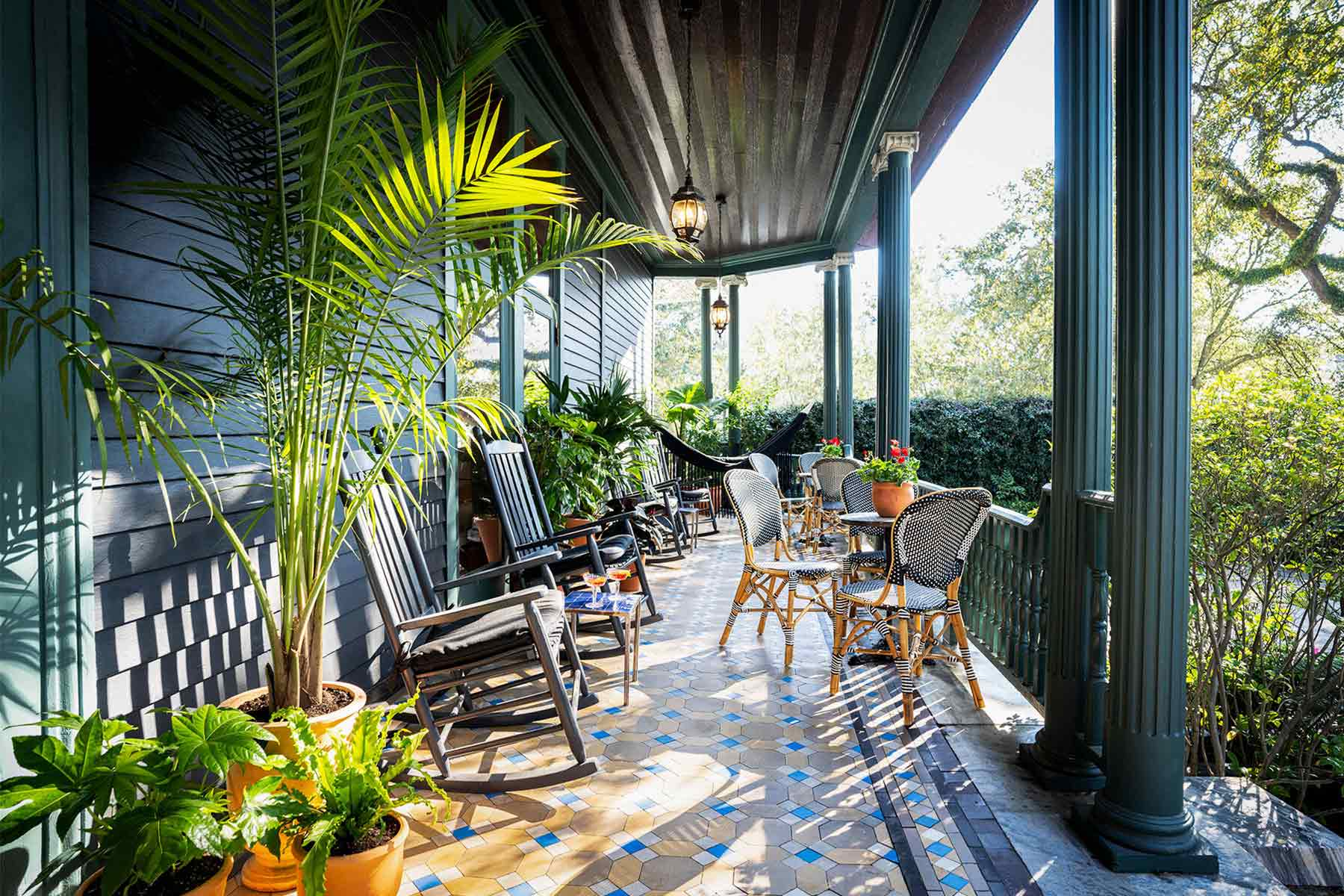 Front Porch of The Chloe Hotel New Orleans
