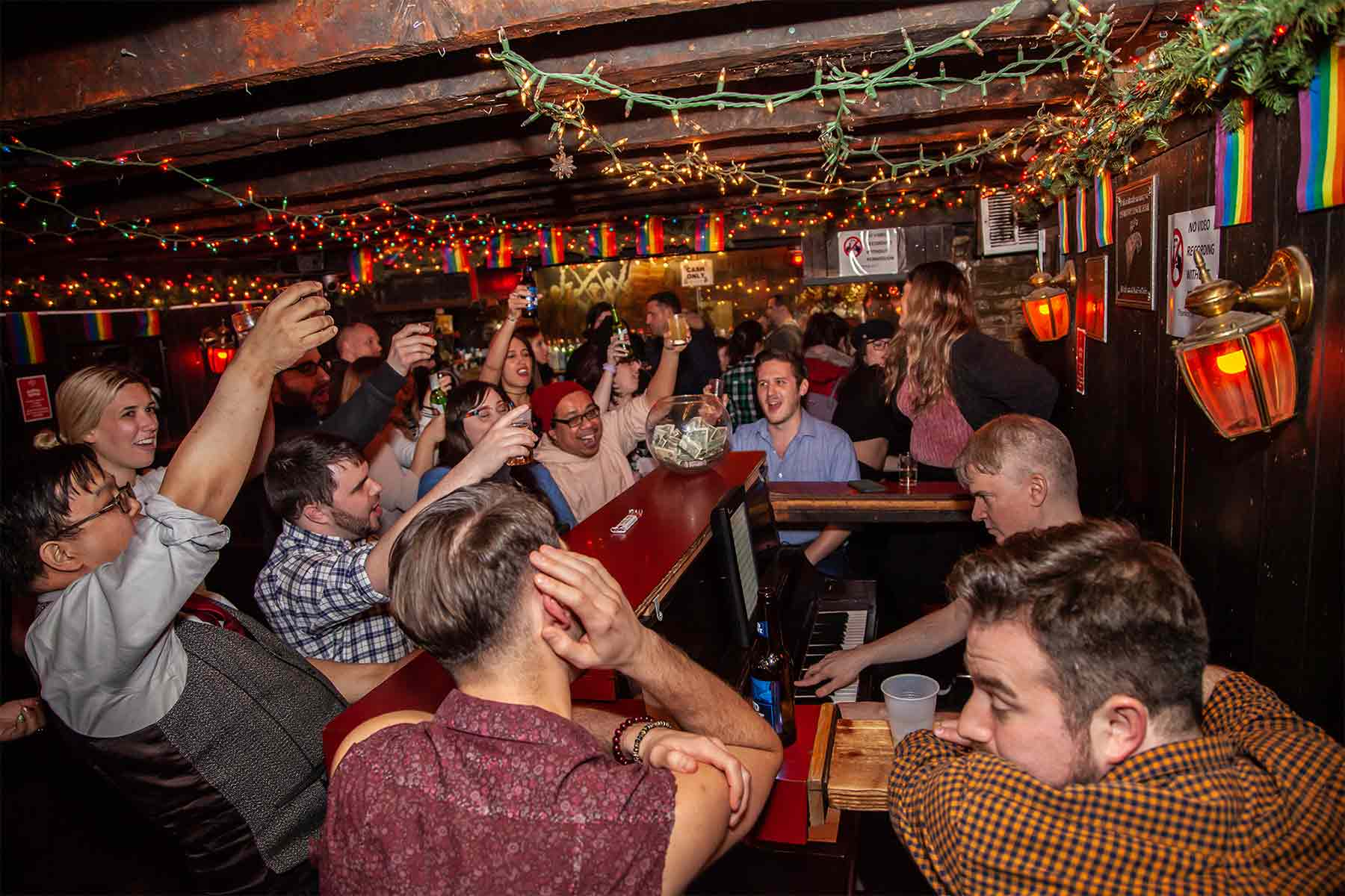 Marie's Crisis in New York is staying open as a virtual piano bar. Photo: Timeout