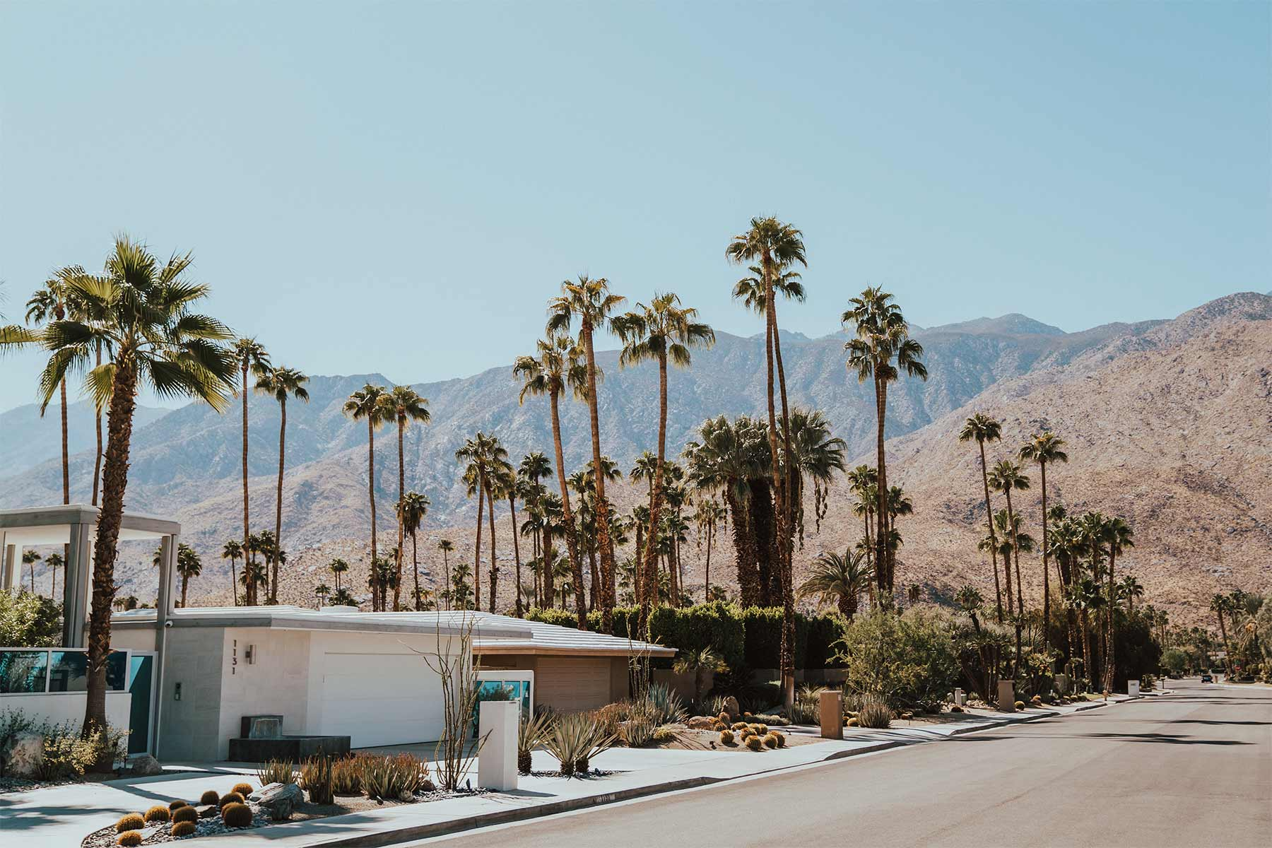 View of Palm Springs in California