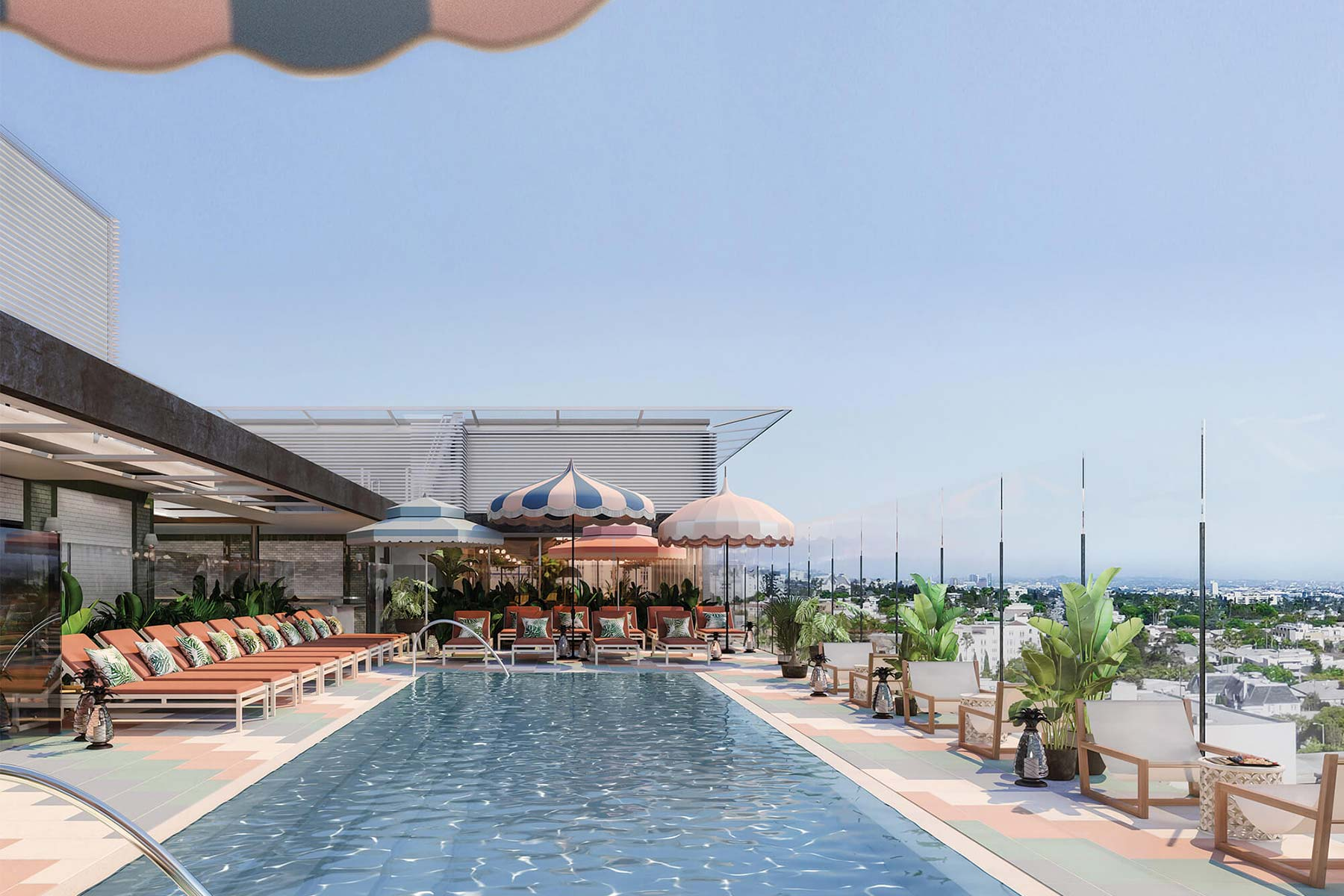 Rooftop Pool at Pendry West Hollywood Hotel