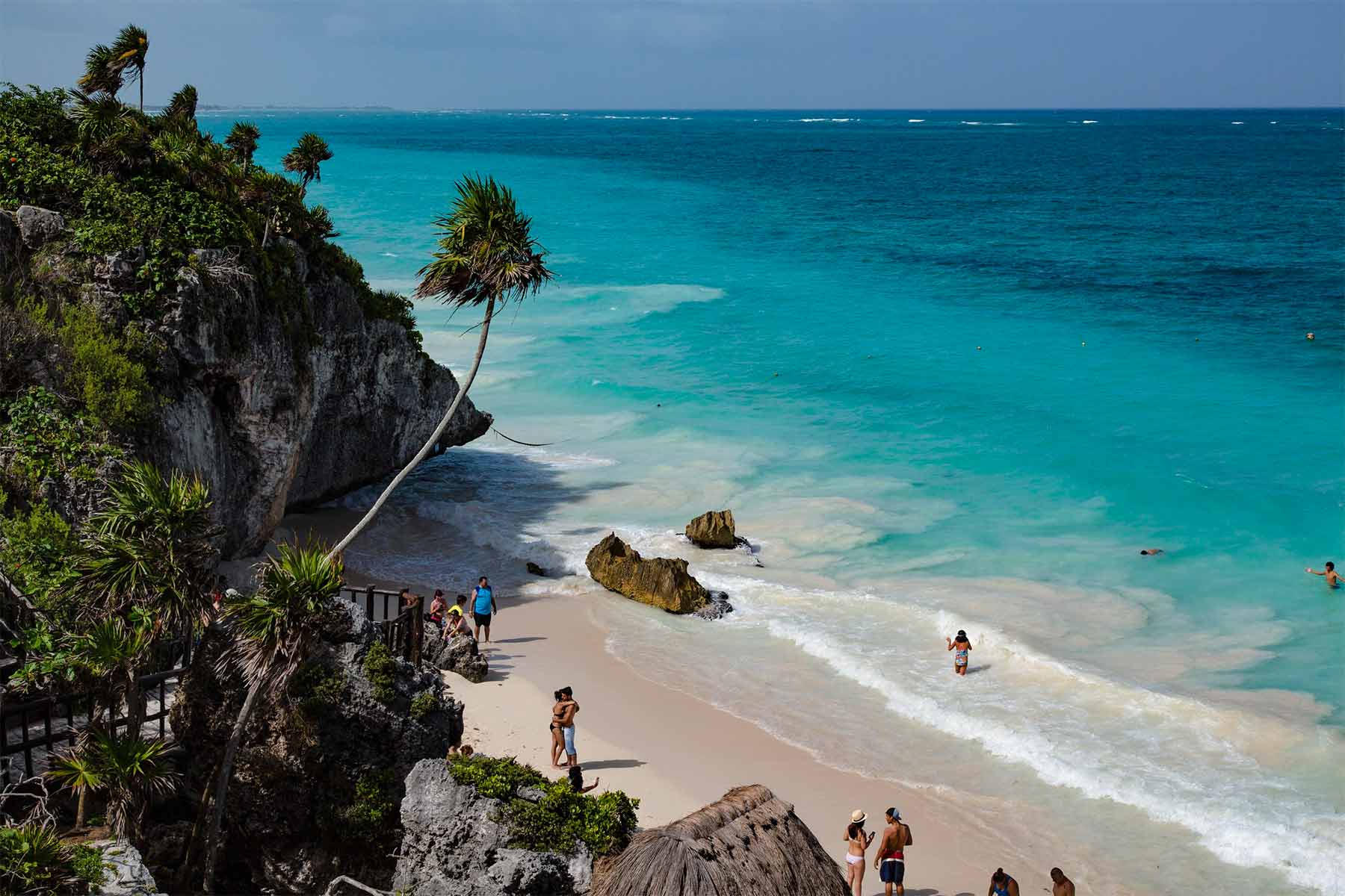 The coastline of Tulum Mexico