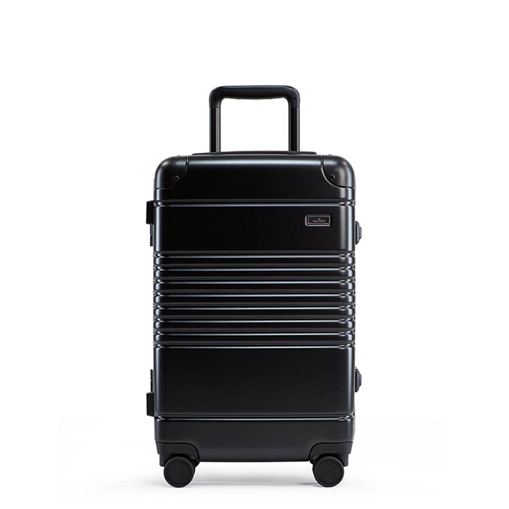 Front view of the frame carry-on in black