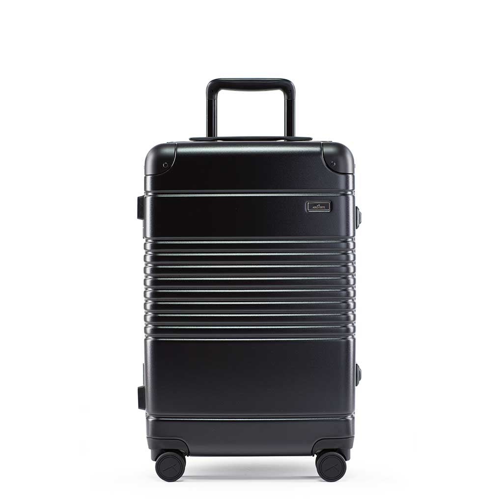 Front view of the frame carry-on max in black