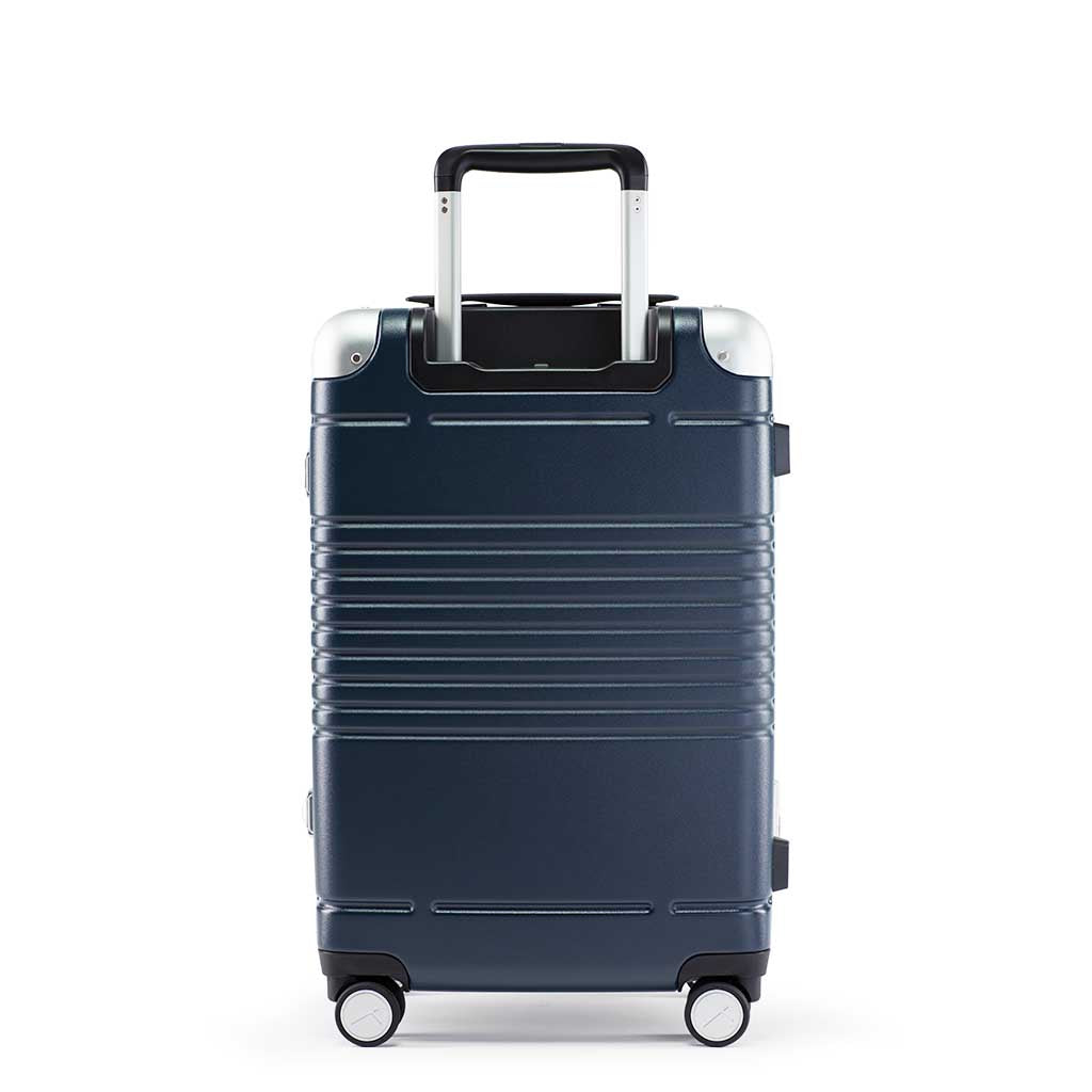 Back view of the frame carry-on max in navy blue