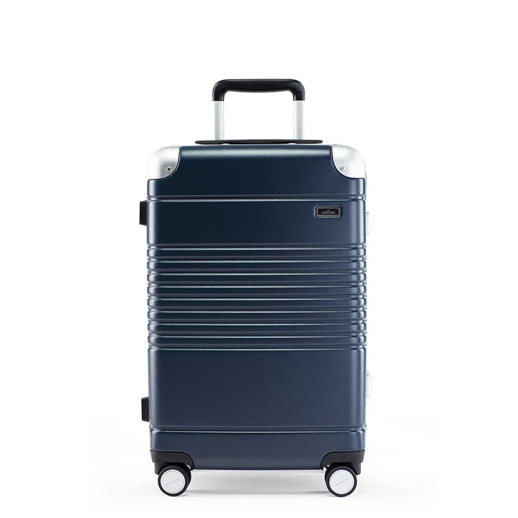 Front view of the frame carry-on max in navy blue