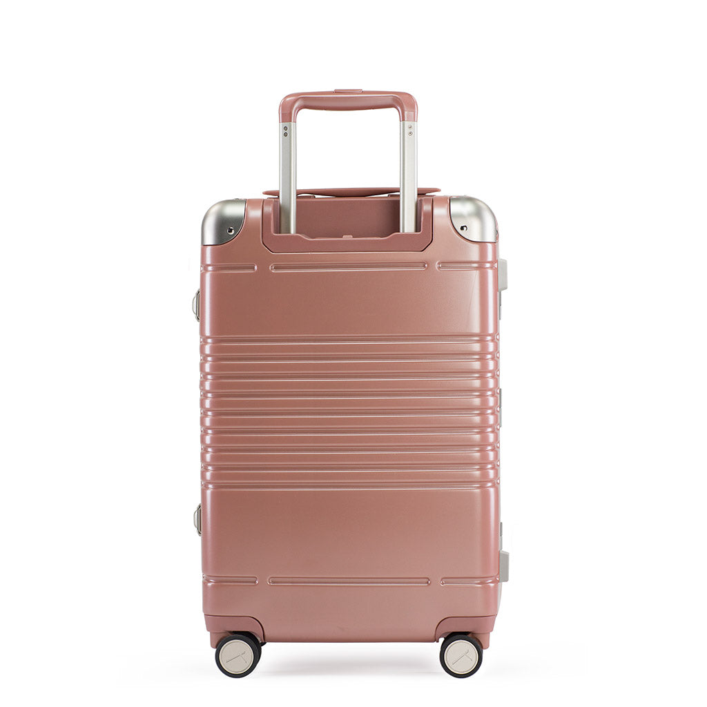 Back view of the frame carry-on max in rose gold