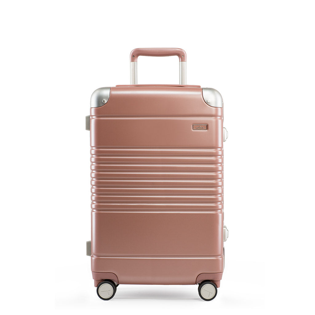 Front view of the frame carry-on max in rose gold