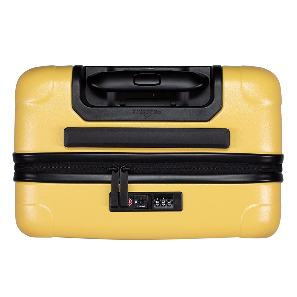 Top view of the zipper carry-on max  in yellow